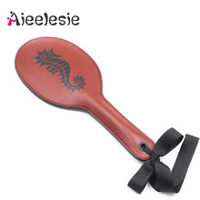 38CM PU Leather Spanking Paddle Couple Flirting whip Slave Adults SM Games Bdsm Bondage Flogger Sex toys for women Accessories