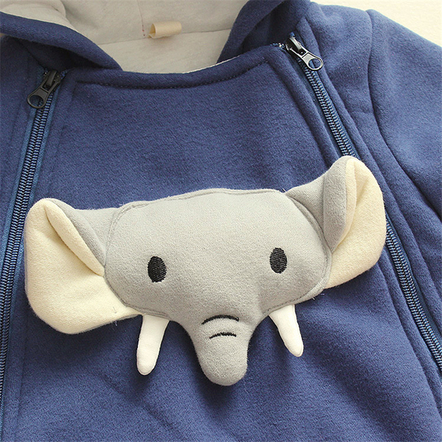 Baby romper with elephant