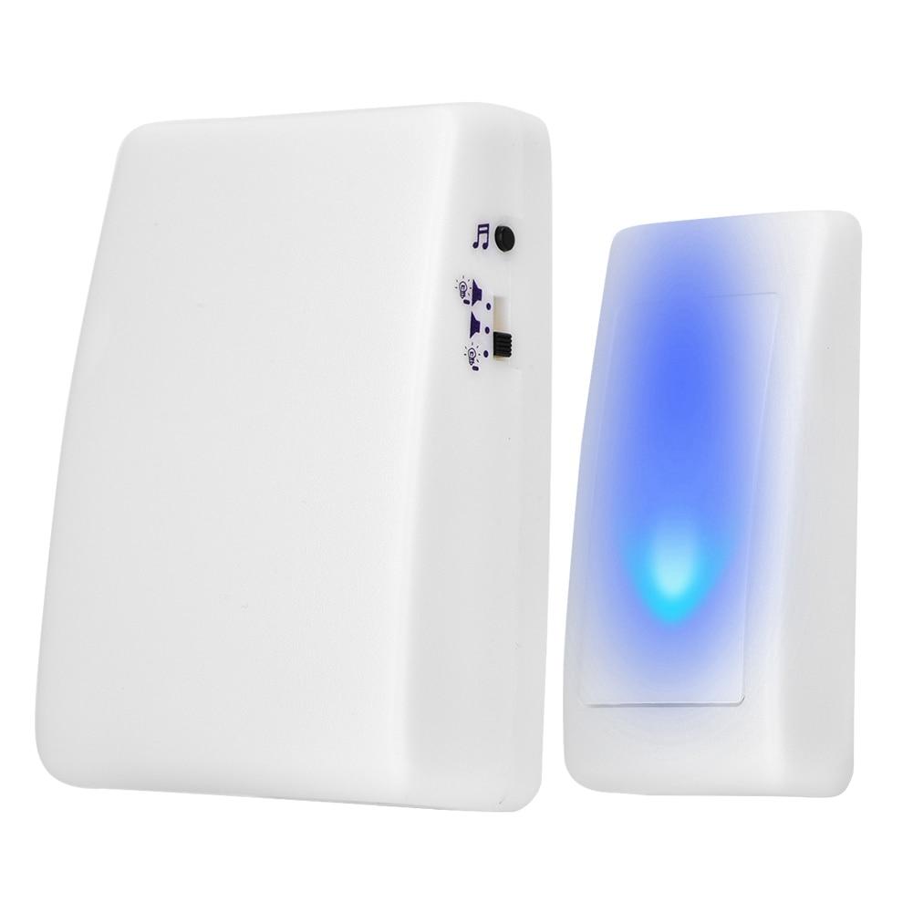 3 Working Modes Doorbell Transmitter 7 Color Lights Flash Music Home Wireless Doorbell Receiver For Elderly Deaf Men Door Bell