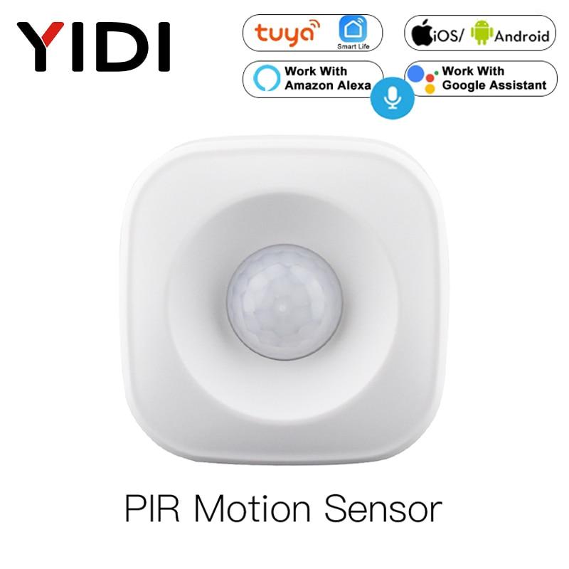 Tuya Smart WiFi PIR Motion Sensor Human Detector Smart Life  App Control Alarm System Smart Body Movement Sensor