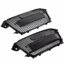 غطاء محرك السيارة بشبكة عرافة رياضية أمامية على طراز RS4 لون أسود لامع لسيارات أودي A4/S4 B8.5 2013-2016 ملحقات تزيين السيارة