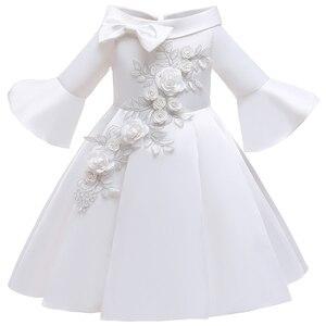 Image 3 - פרח ילדה רומנטי חתונה מסיבת משתה שושבינה כתף שמלת ילדה יום הולדת מסיבת ביצוע סעודת האדון מסיבת שמלה