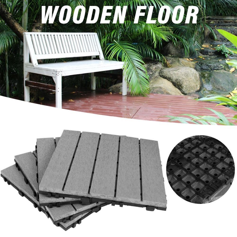 interlocking wood flooring deck patio pavers tiles solid wood and plastic corner edging trim tiles indoor outdoor 12 x 12in