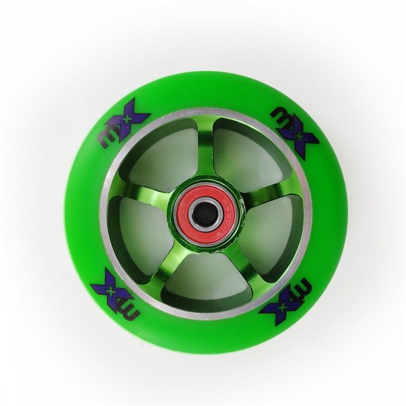 110 milímetros 100 milímetros Rodas De Scooter Liga de Alumínio do Cubo de Roda de Aço de Alta Elasticidade e Precisão roda de patinação de velocidade 88A 2 pçs/lote