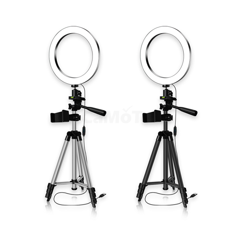 cheapest 9inch LED Ring Light Dimmable Rotating For Selfie Remote Control Phone Holder Live Studio Photography With Stand Makeup Video