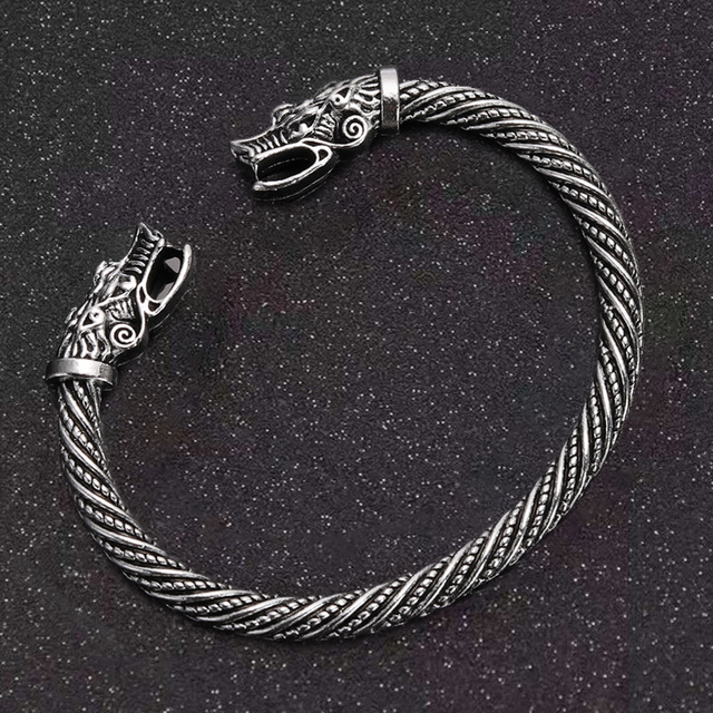 Bracelet tête de Dragon bouche ouverte  4