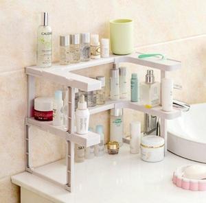 Image 5 - 2 Layers Kitchen Cabinet Cupboard Organizer Adjustable Kitchen Storage Shelf Spice Rack Countertop Organizer Cabinet Storage