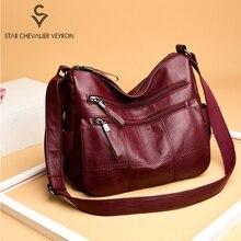 цена на Hot Women Luxury Leather Handbags Casual Women Bags Designer Female Shoulder Messenger Bag For Lady 2020 Big Tote Bag Main Femme