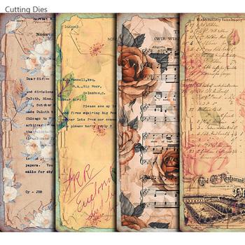 Śmieci dziennik Vintage roślinnym wzorem Scrapbooking naklejka papierowa samoprzylepna do kart szczęśliwy Planner papier do majsterkowania rzemiosło tanie i dobre opinie Cutting dies CN (pochodzenie) paper