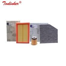 Hava filtresi + kabin filtresi + yağ filtresi için 3 adet Mercedes Benz C CLASS W205 A205 C205 S205 2013 2019 c160 C180 C200 C250 C300 C350E