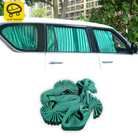 CARMANGO for Nissan Patrol Y62 Auto Car Styling Side Window Sunshades Rolling Cloth Curtain Trim Stickers Covers Accessories