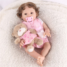 Bebe Reborn Realista 45CM Soft Full Body Silicone Simulation Reborn Baby Doll Realistic Toddler Bonecas Girl Bebe Bathe Toy Doll pursue silicon full body soft reborn baby doll with blue eyess bebe reborn silicone realista bonecas reborn de silicone inteiro