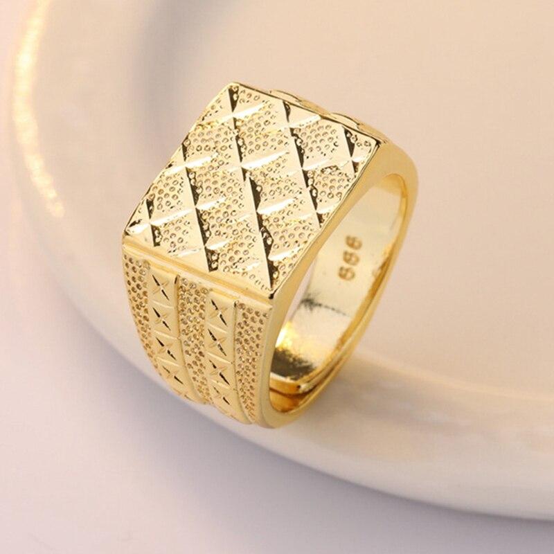 Мужское кольцо на палец золотого цвета, роскошные мужские кольца с регулируемым размером