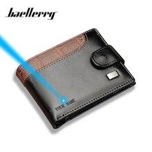 Baellerry Newest Fashion Short Men Wallet Photo Holder Coin Pocket PU Leather Zipper & Hasp Men's Purse Money Bag