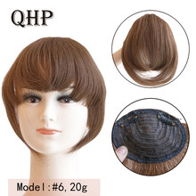 Human Hair Bangs 20g clip in Straight virgin Remy Fringe Hairpiece Natural Human Hair Bangs(China)