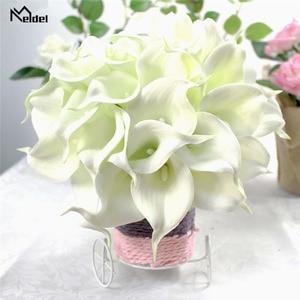 Image 5 - Meldel חתונה זר כלה לילי פרחים מלאכותיים כלה זרי השושבינות הכלה נישואי חתונה זר עיצוב הבית