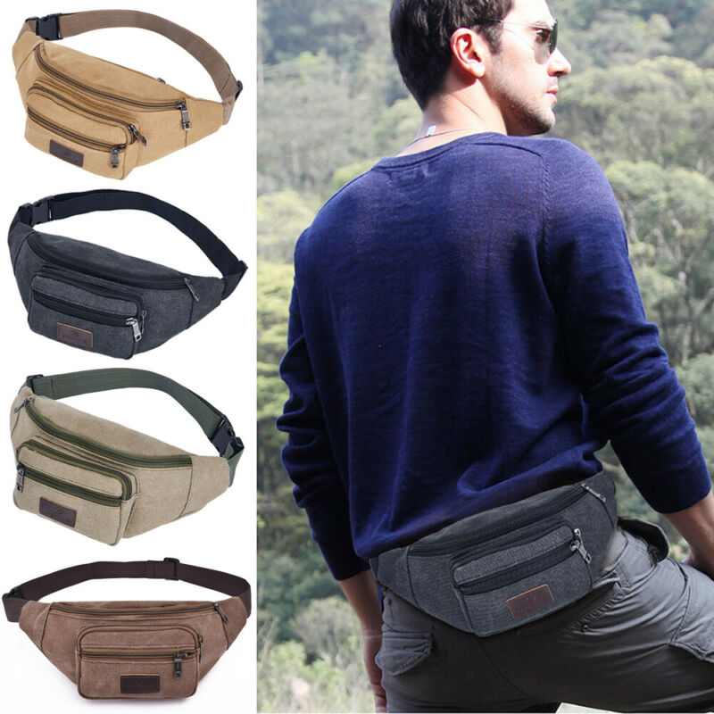 Fanny Pack Waist Bag Men Women Crossbody Hip Belt Pouch Pocket Travel Sport Bum Fanny Pack Belt Money Pouch Wallet Hiking Bag
