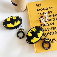 Baru DC Film Batman Airpods Tas Cosplay 3D Lencana Bluetooth Headset Silika Gel Perlindungan Kotak Fashion Kartun Lucu(China)