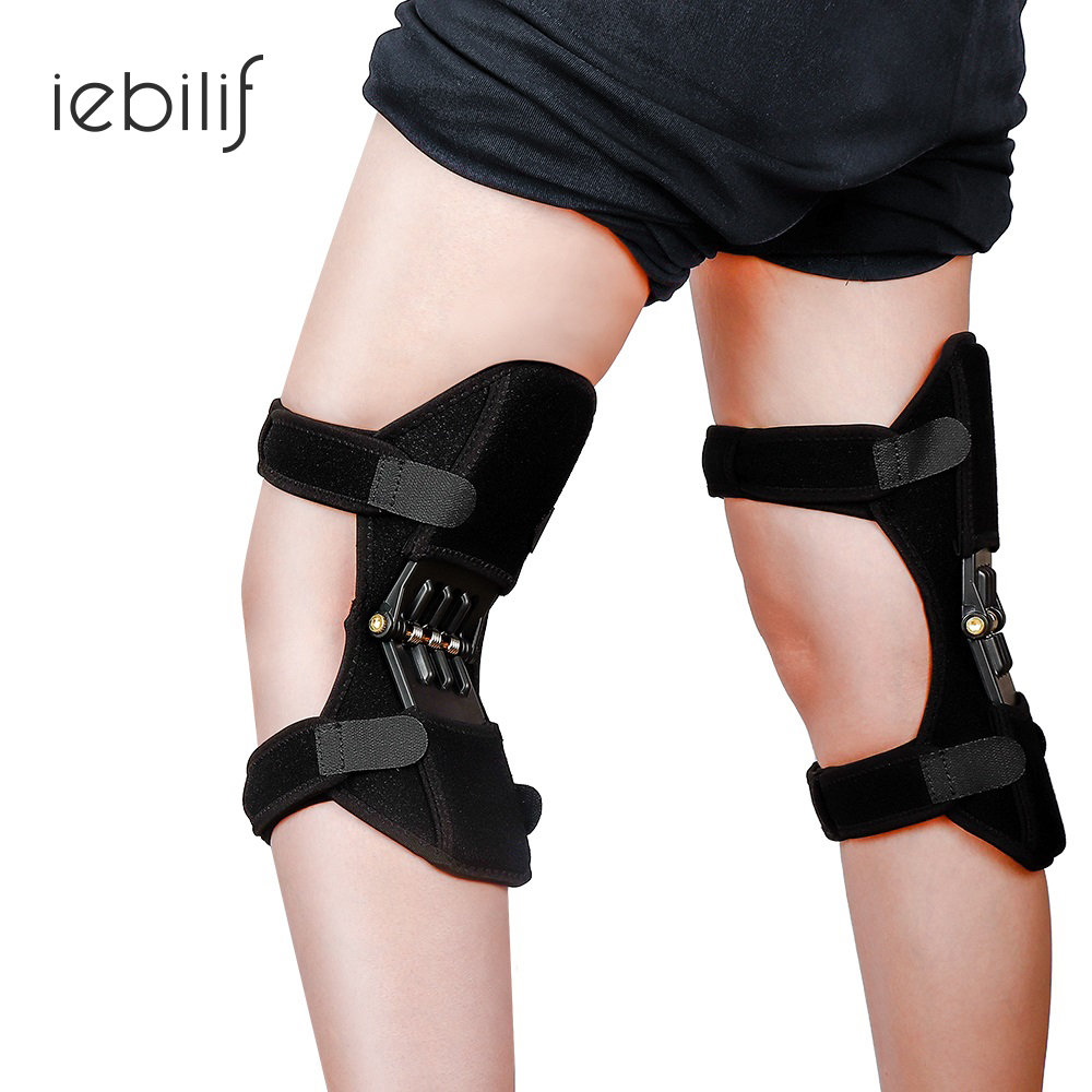 Joint Support Knee Pad Breathable Climbing Non-slip Lift Powerful Rebound Spring Force Stabilizer Knee Booster Outdoor Activity