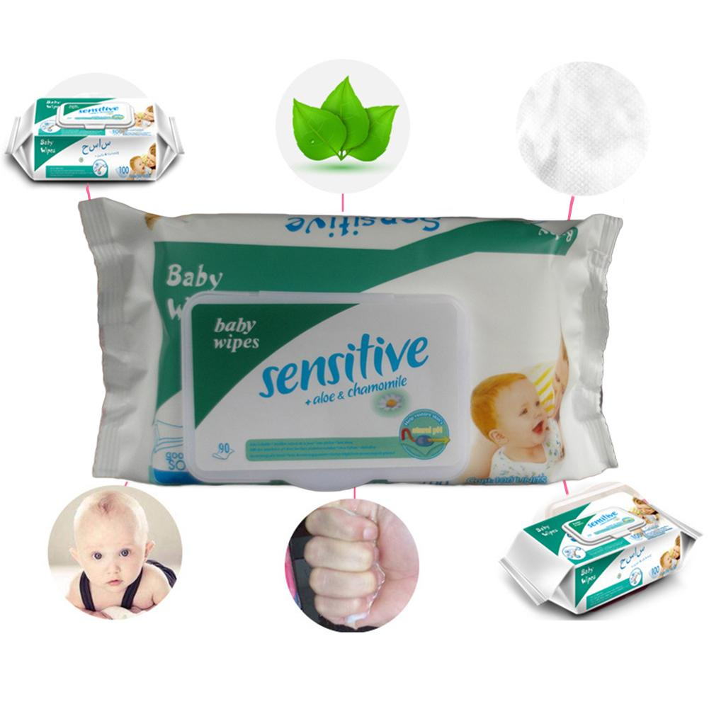 100Pcs/Pack Portable Disposable Skin Friendly Infant Baby Pads Wet Wipes Tissue Pack Baby Wipes For Kids
