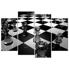 Черно белые плакаты эстетическая 3d шахматная доска картина