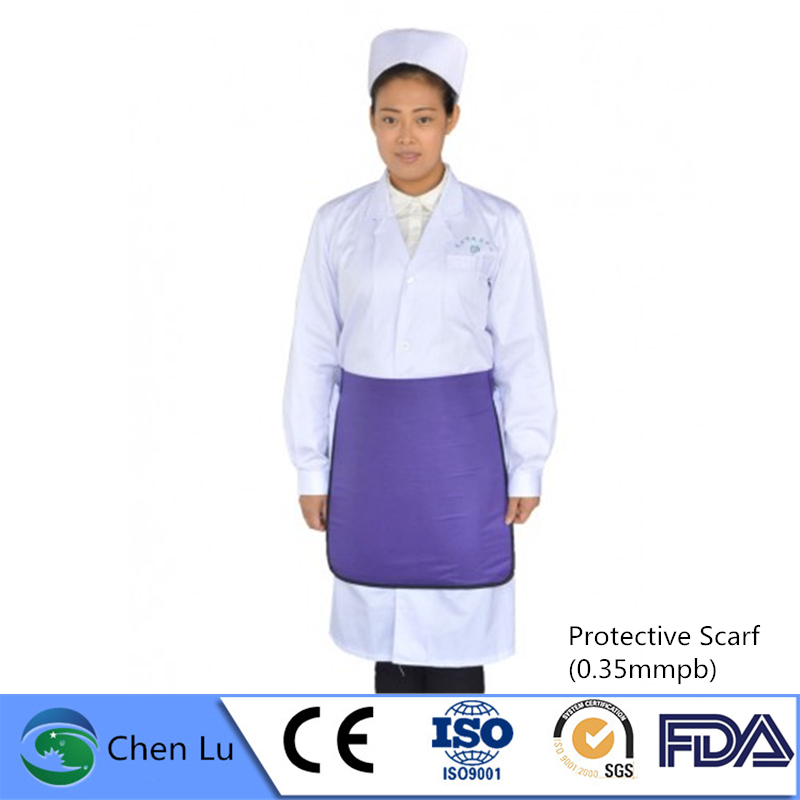 Direct Selling Adult Gonadal Radiological Protection 0.35mmpb Half Lead Apron X-ray Protective Lead Square Scarf