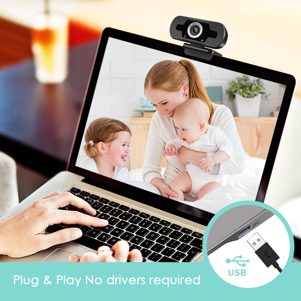 HD 1080/5MP Webcam Mini Computer PC WebCamera With Microphone Conference Camera Video Recording Conferencing Meeting USB Web