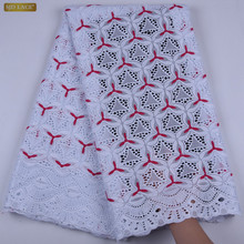 Africa Cotton Swiss Voile Lace 2019 High Quality Swiss Voile Lace In Switzerland African Dry Laces Fabrics For Party Dress A1701