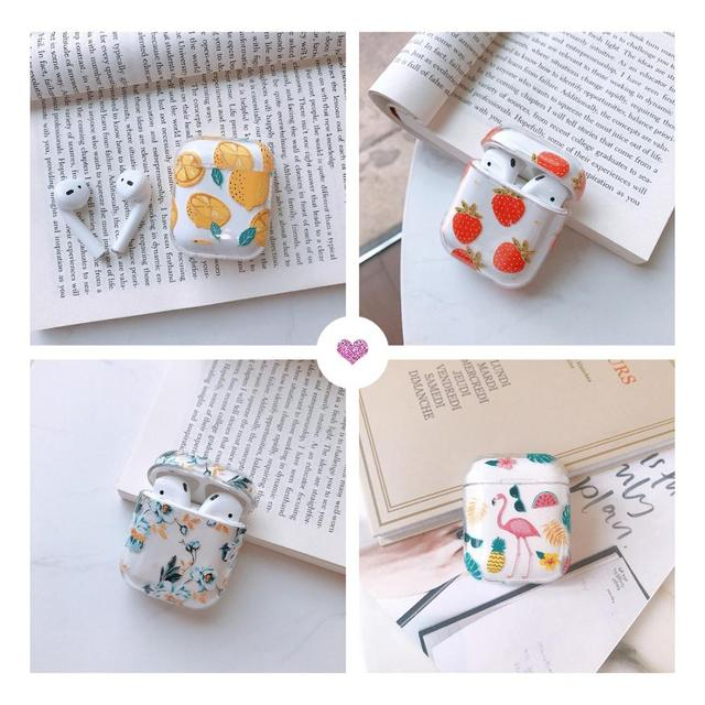 Cute Cartoon Wireless Bluetooth Transparent Earphone Case For Apple AirPods Slim Thin Hard box Headphones Case Protective Cover