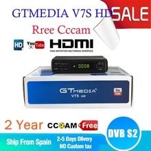 10PC Best DVB-S2 Receiver Gtmedia v7s HD Power 2.0 TV Satellite Receiver Free USB WIFI with 1 Year European CCCAM HD 1080p TVBOX