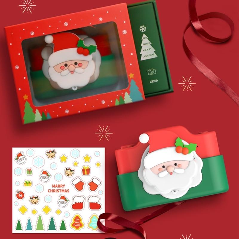 Mini Wifi Digital Camera 32MP Cartoon Santa Claus Digital Camera Kids Educational Toy Children Baby Birthday New Year Gift