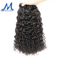Missblue peruca com ondas, 1 3 4 peças de cabelo 100% humano brasileiro com ondas ou remy cor natural