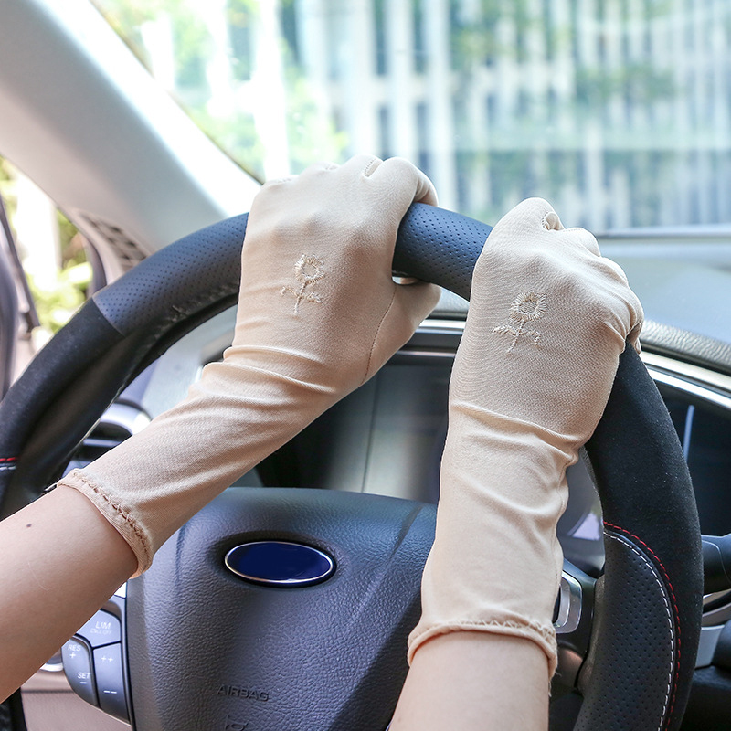 New Women Lace Sunscreen Gloves Summer Spring Female Stretch Gloves Anti-UV Resistant Driving Glove Breathable Guantes