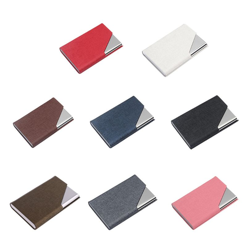 Professional Metal Business Card Case Portable Business Card Holder. image