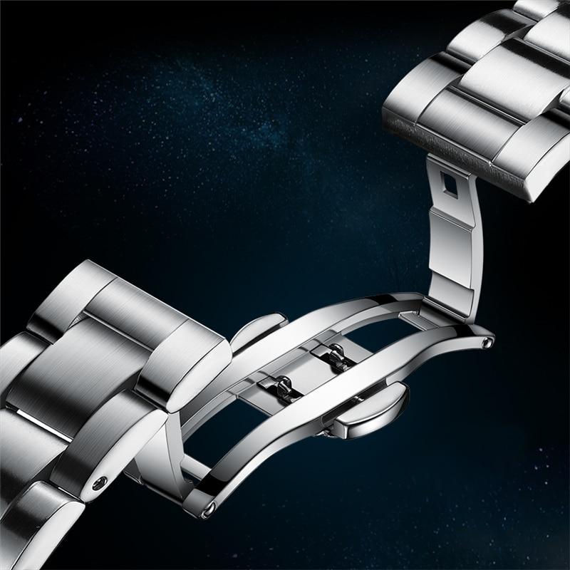 2021 LIGE New Watch Men Automatic Mechanical Tourbillon Clock Fashion Sport Diving Watch 100ATM Waterproof Luminous Watches Mens 5