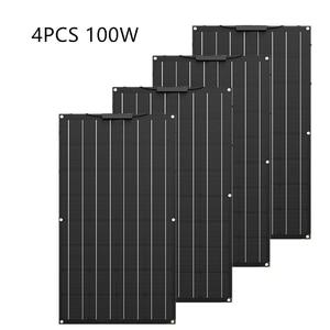 Image 2 - Painel solar flexível etfe de alta qualidade, 300w, igual a 3 peças de 100w, painel solar, célula 12 carregador de bateria solar v