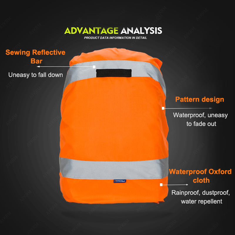 Backpack Rain Cover Rainproof Reflective Outdoor Bag Rucksack Dust Covers