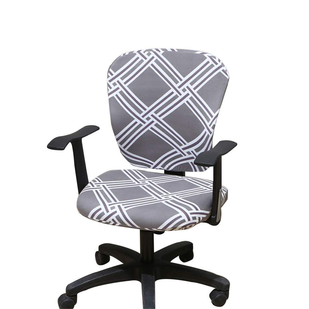 Computer Office Chair Cover Split Protective /& Stretchable Cloth Polyester Universal Desk Task Chair Chair Covers Stretch Rotating Chair Slipcover