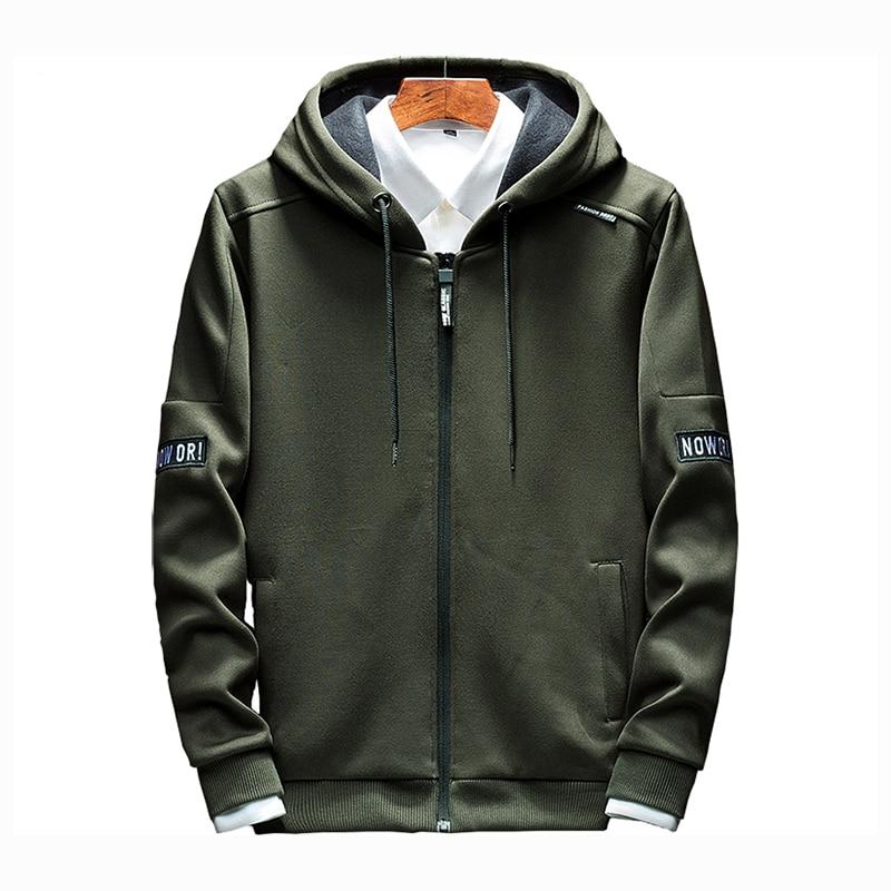 Hoodies Men 2020 Autumn Casual Men Zipper Hoodies Sweatshirts Cotton Thick Top Fashion Men Hooded Jackets Male Coat Hoody
