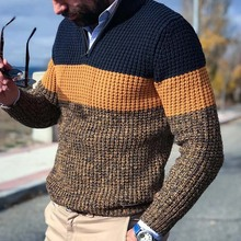 Men Knitted Sweater 2021 Spring Warm V Neck Pullover Jumper Long Sleeve Casual Loose Male Autumn Winter Knitwear Tops Plus Size