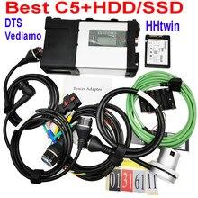 2021 ferramenta de diagnóstico mb estrela c5 sd conectar wi-fi diagnóstico sd c5 função sem fio com software hdd 2021.03 frete grátis