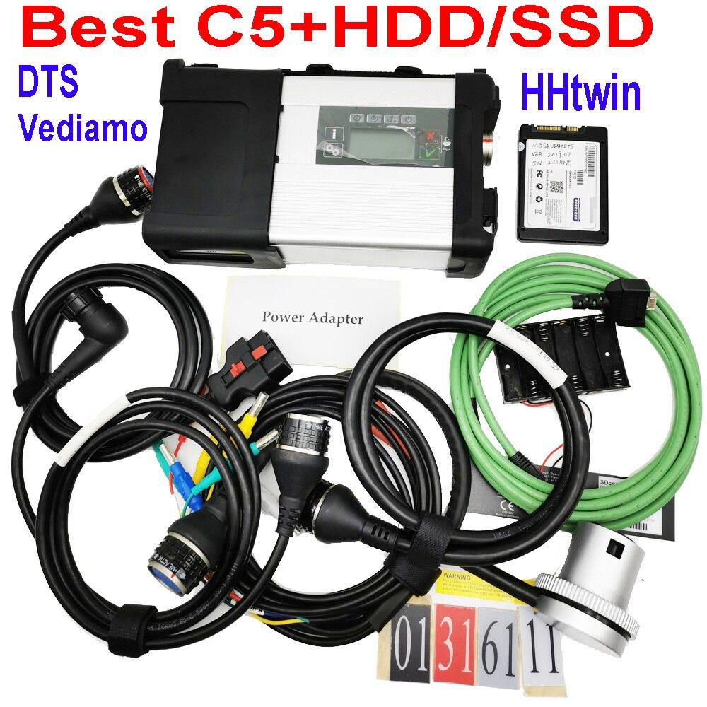 2020 ferramenta de diagnóstico mb estrela c5 sd conectar wi-fi diagnóstico sd c5 função sem fio com software hdd 2020.03 frete grátis