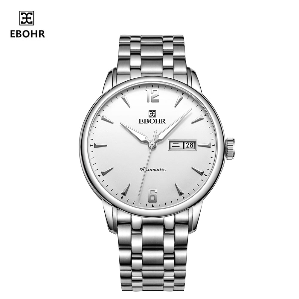 EBOHR Automatic Mechanical Men's Watch Steel Belt Waterproof Fashion Trend Business Couple Watch 56230116