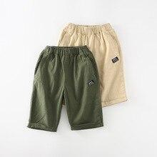 Летние Повседневные Шорты Для больших мальчиков мужские и женские детские шорты с квадратным карманом и маркировкой D1919