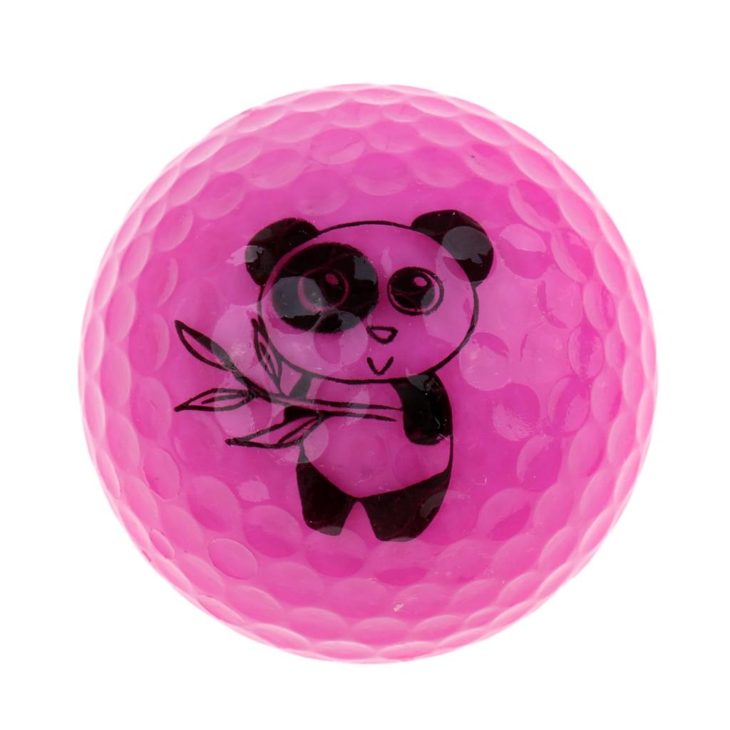 Golf Driving Range Practice Ball Double Layer Golf Ball Cute Panda
