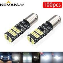 100 adet CANBUS BA9S BAX9S BAY9S H21W T4W H6W W5W LED T10 LED 4014 26 LED yan kama işık İç sinyal lambası 12V beyaz