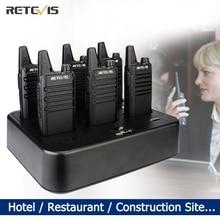 Mini Handy Walkie Talkie 6 pcs Retevis RT622 PMR RB19 Walkie talkies FRS Two Way Radio Portable Radio for Cafe Hotel Restaurant