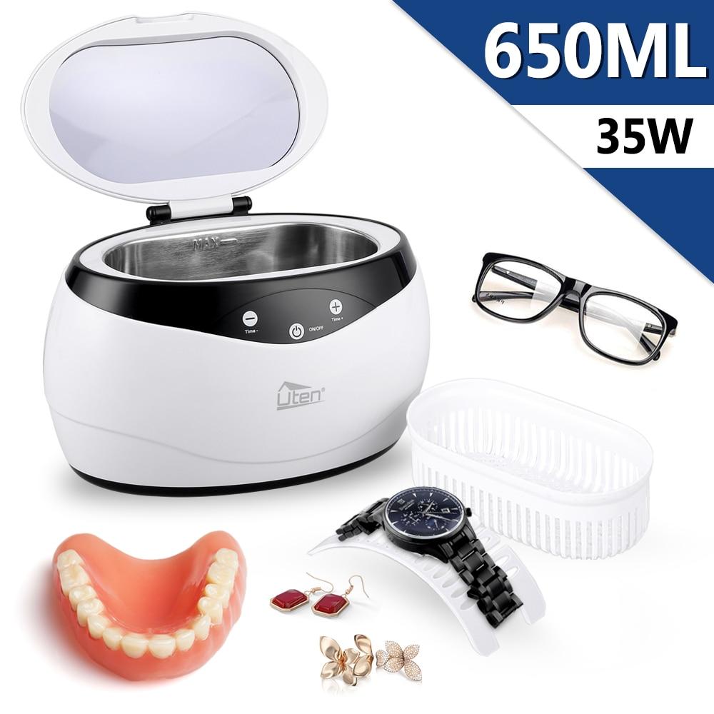 Ultraschall Reiniger Prothese reinigung 35W Schmuck Brillenreiniger Wasserdichte Uhr Anti-Sickerwasser #30