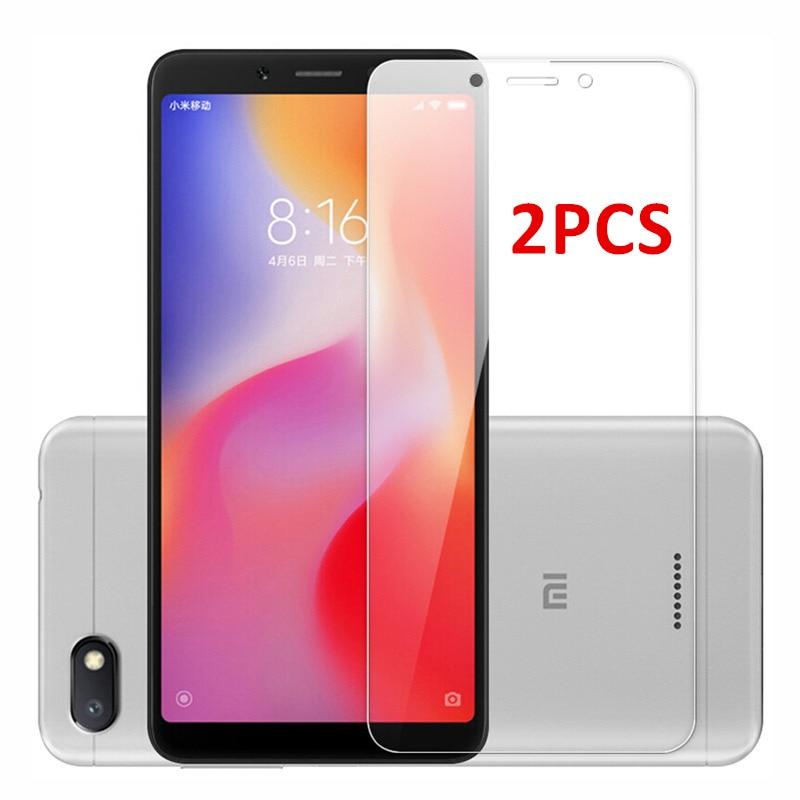2PCS For Glass Xiaomi Redmi 7A 6A 6 Screen Protector Tempered Glass For Xiaomi Redmi 6 Glass Redmi 6A Protective Phone Film