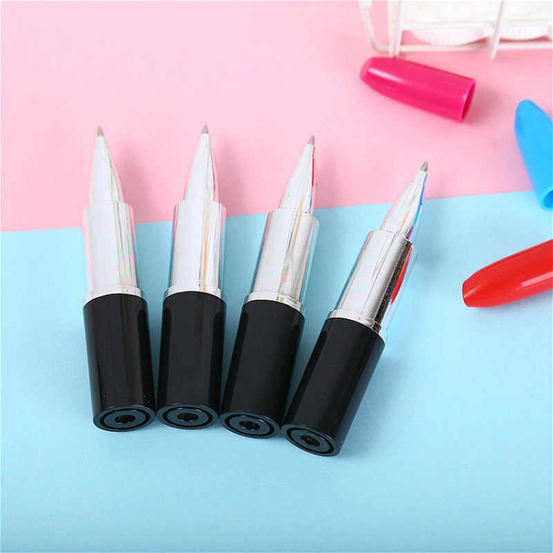 1 قطعة قلم أحمر الشفاه Kawaii جديد نمط خارج مقلمة مدرسة سعة كبيرة الكتابة اللوازم حقيبة أقلام رصاص قلم رصاص الحقيبة القرطاسية